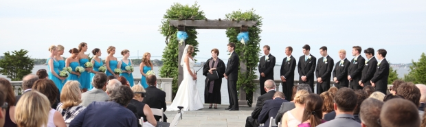 Rev. Amy Freedman Officiating Wedding Ceremony