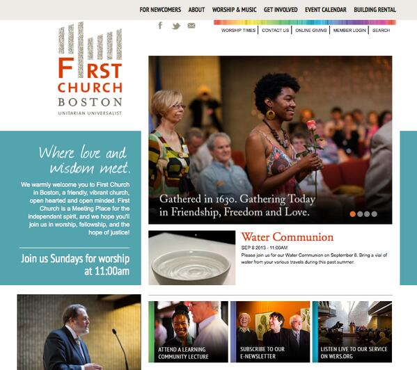 First Church Boston website preview