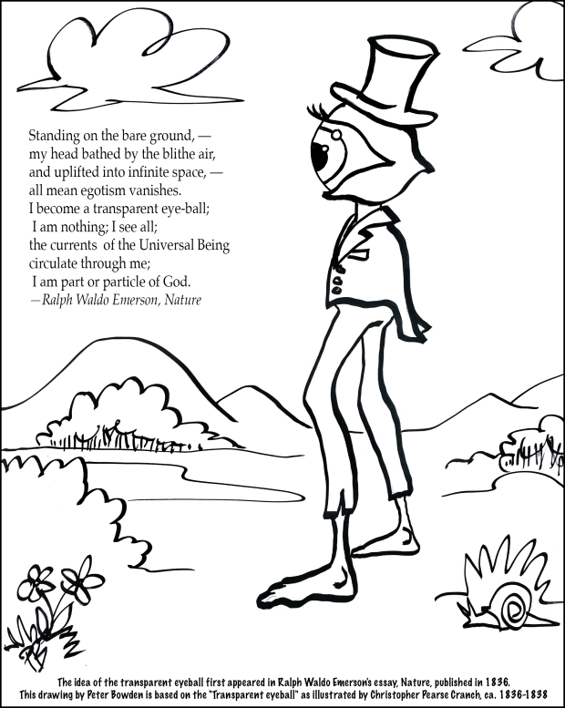 Ralph Waldo Emerson's Transparent Eyeball coloring page